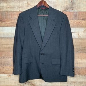 Jos. A Bank | 100% Wool Black Pinstripe Blazer 41R